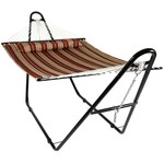 *Harrington Quilted Double Spreader Bar Hammock with Stand