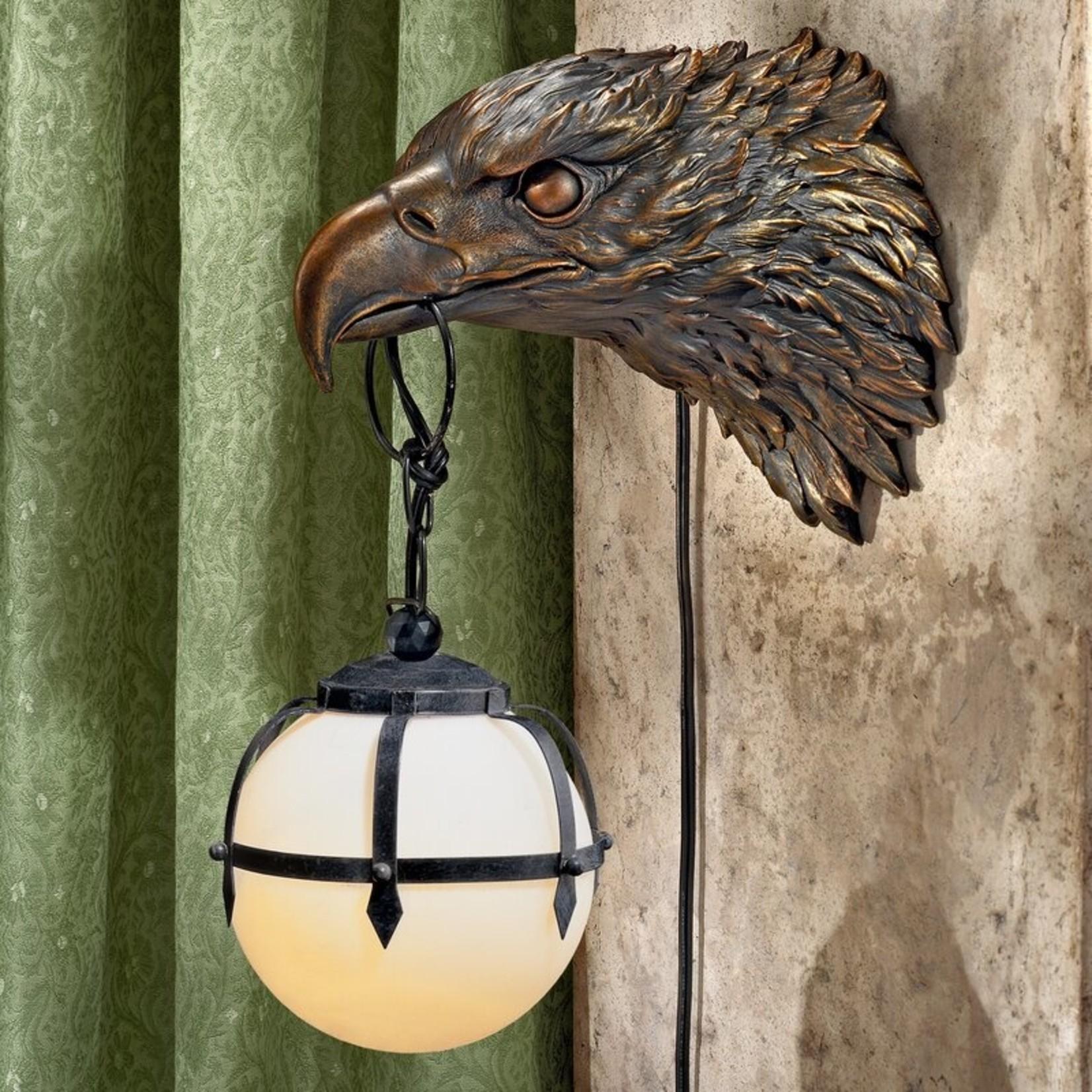 *Enlightening Freedom Bald Eagle Sculptural Electric 1-Light Armed Sconce