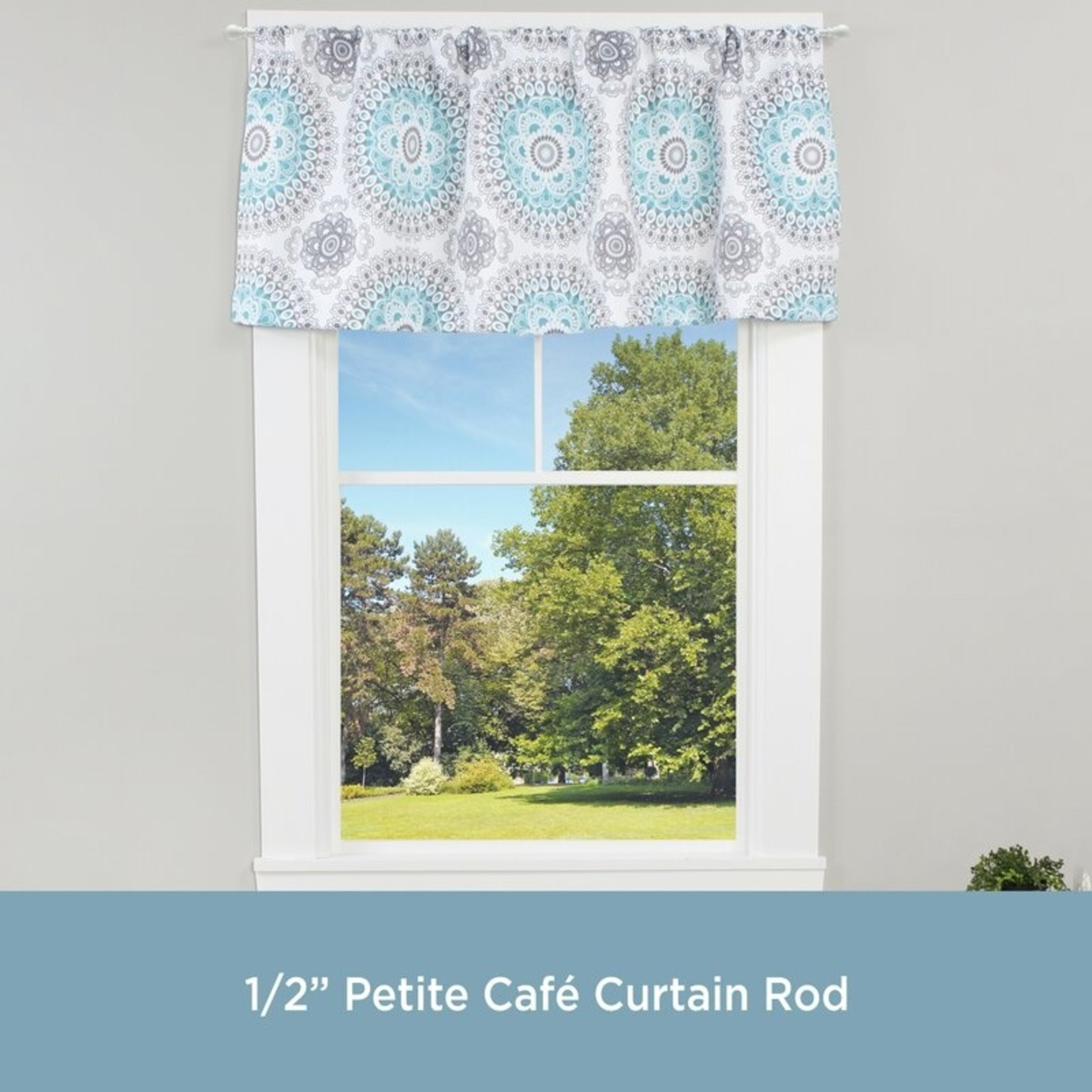"*48""-86""Mendoza Single Curtain Rod - White"