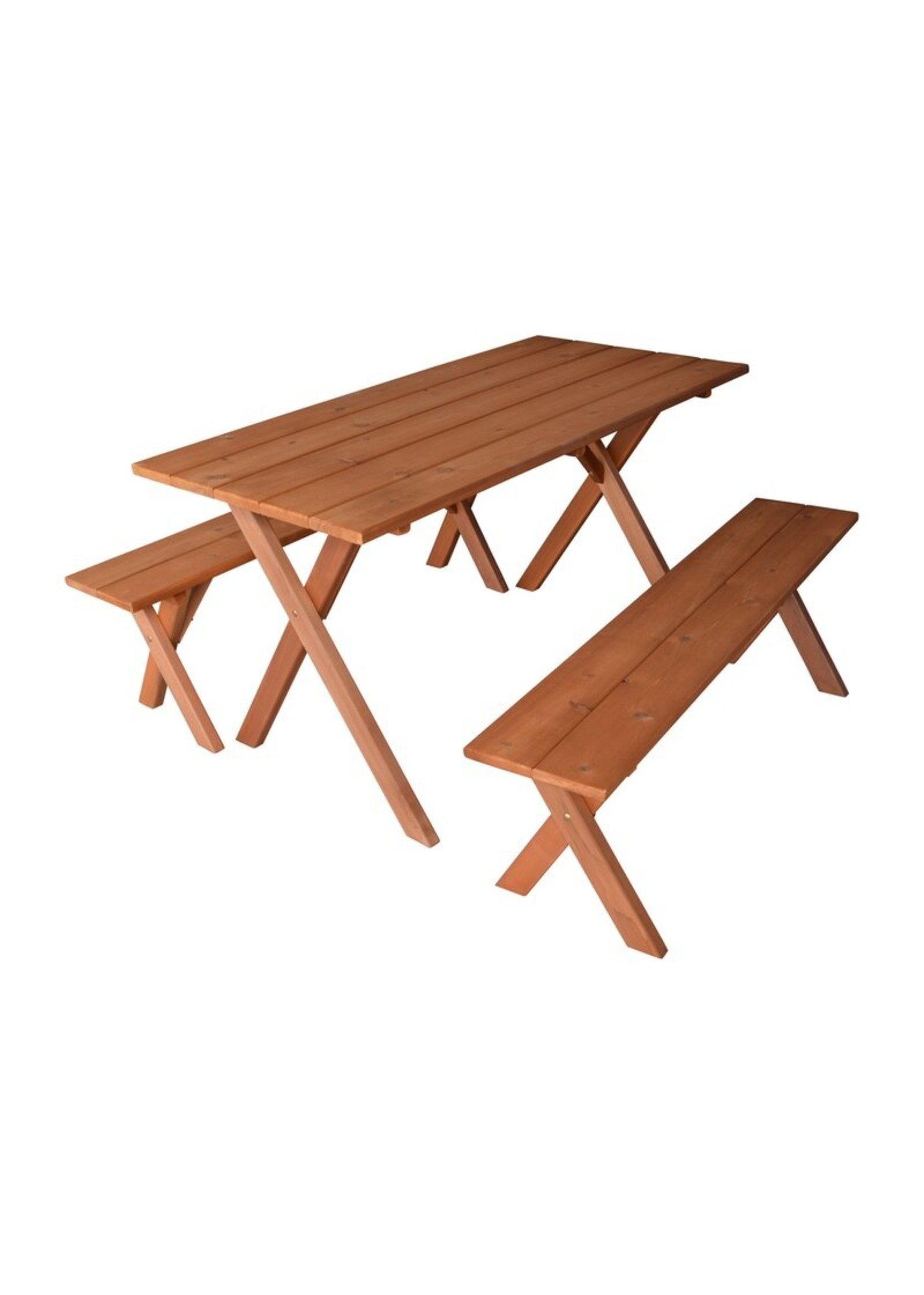 "*Abernethy Rectangular 56"" Long Picnic Table - Cedar Stain"