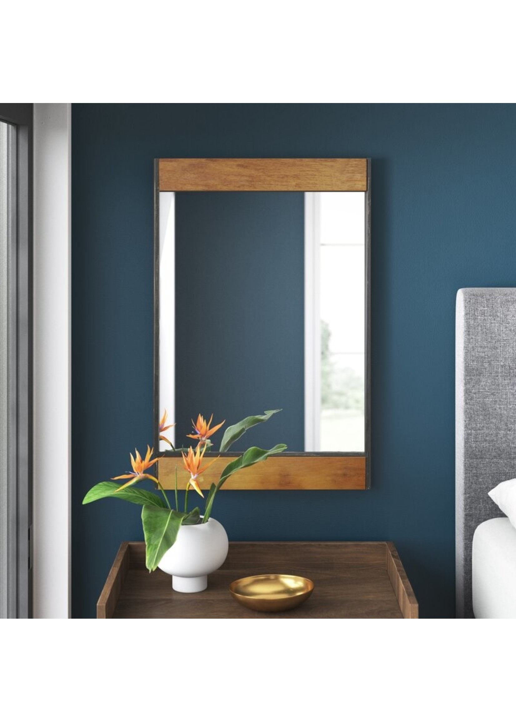 """*32"""" x 21"""" - Ullery Industrial Accent Mirror"""