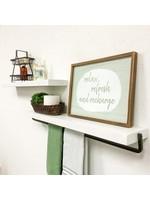 """*5""""H x 24""""W x 5.5"""" D - Sunny Side 2 Piece Pine- White - Marks On One Shelf"""