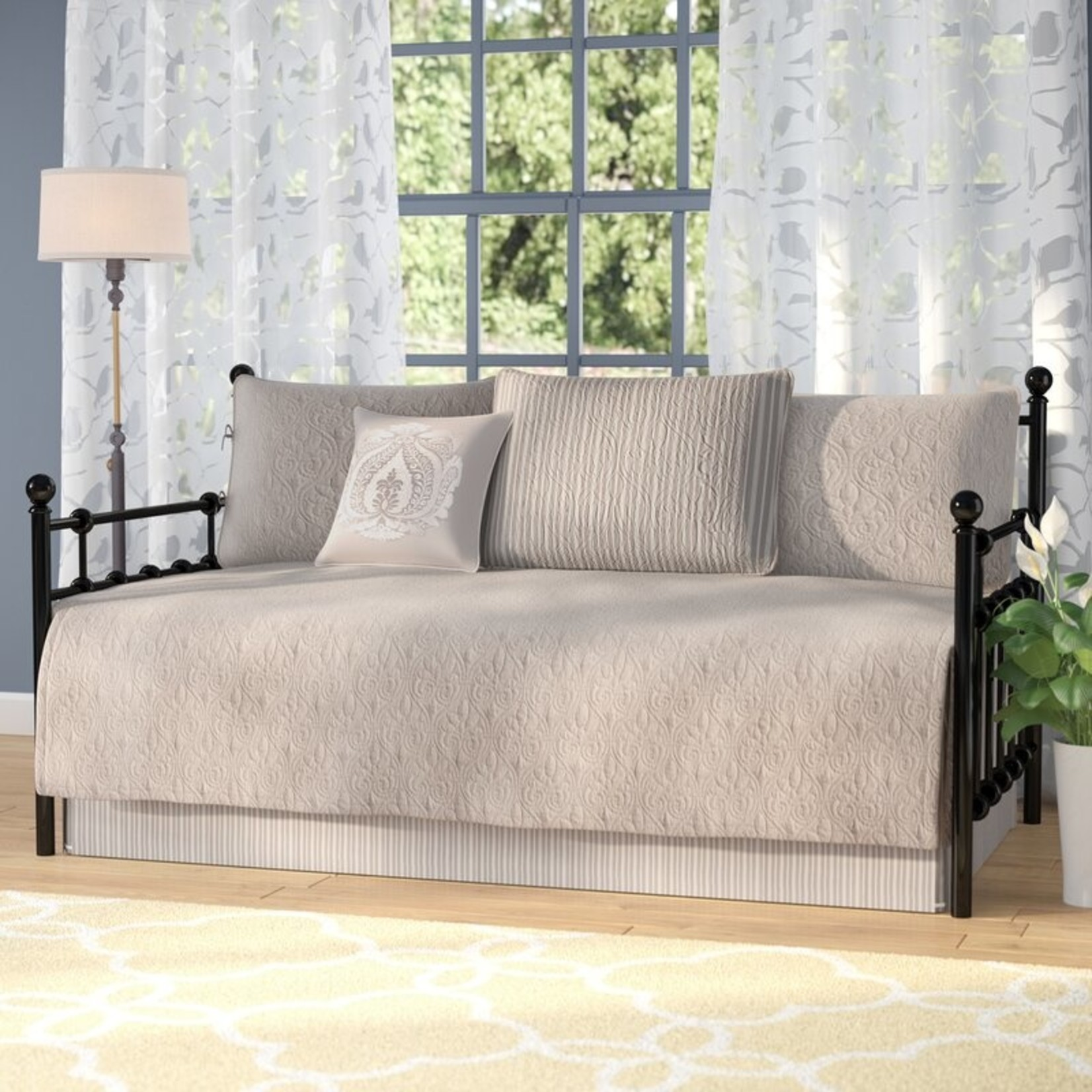 *Daybed -6 Piece -Epping Reversible Coverlet Set - Khak - Final Sale - Final Salei