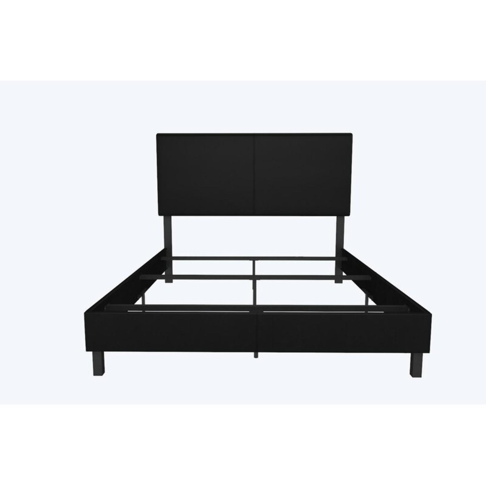 *Full - Mendez Upholstered Low Profile Standard Bed - Black
