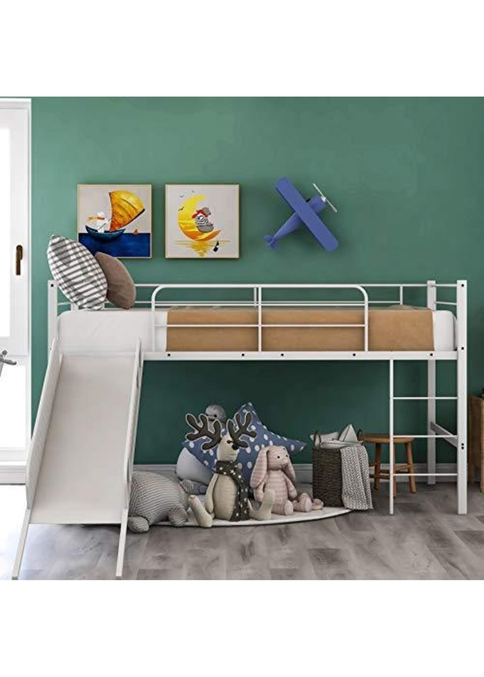 *Whitbeck Twin Metal Loft Bed by Viv + Rae - White