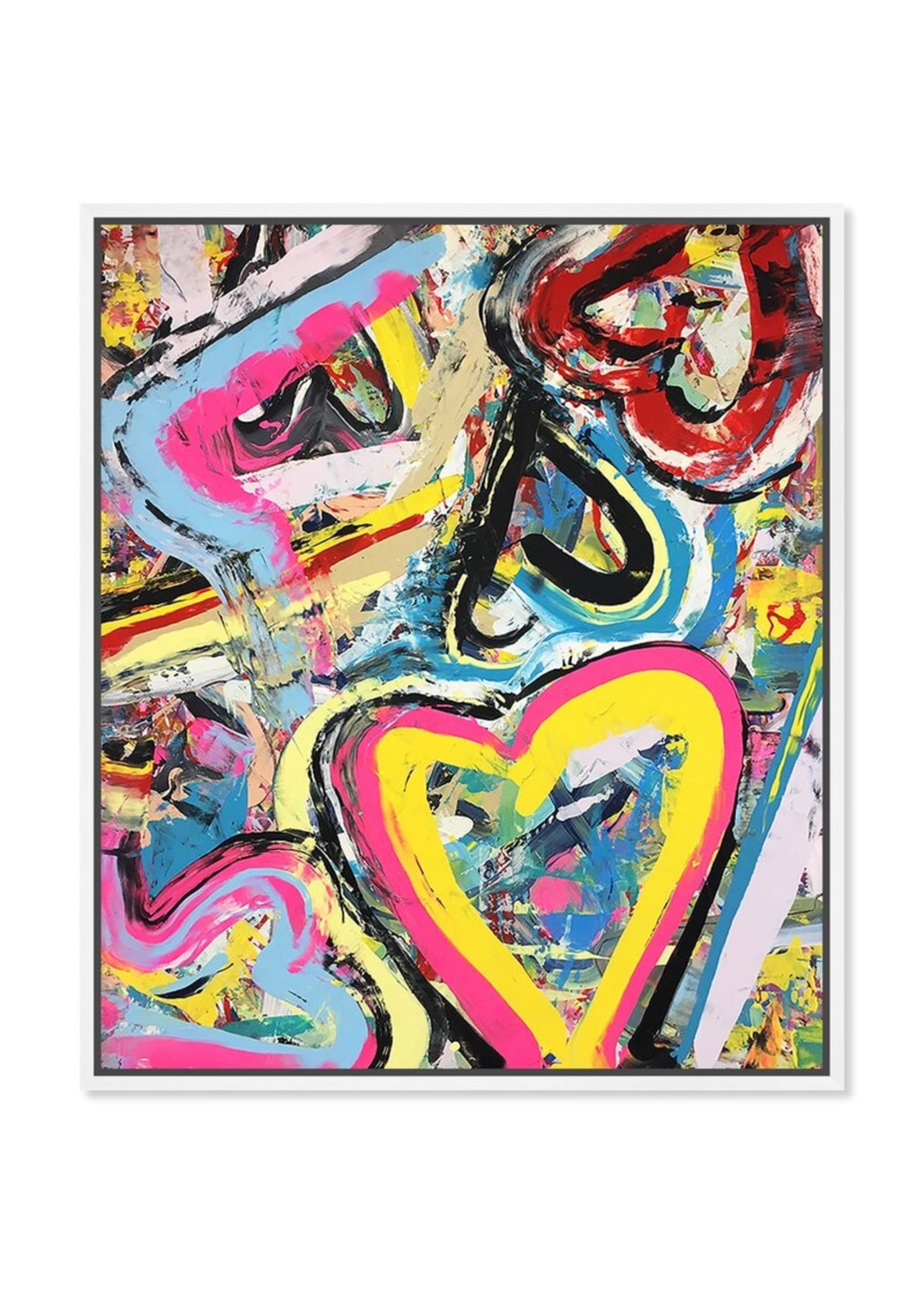 *Oversized Tiago Magro - Balloons' Framed Graphic Art Print on Canvas