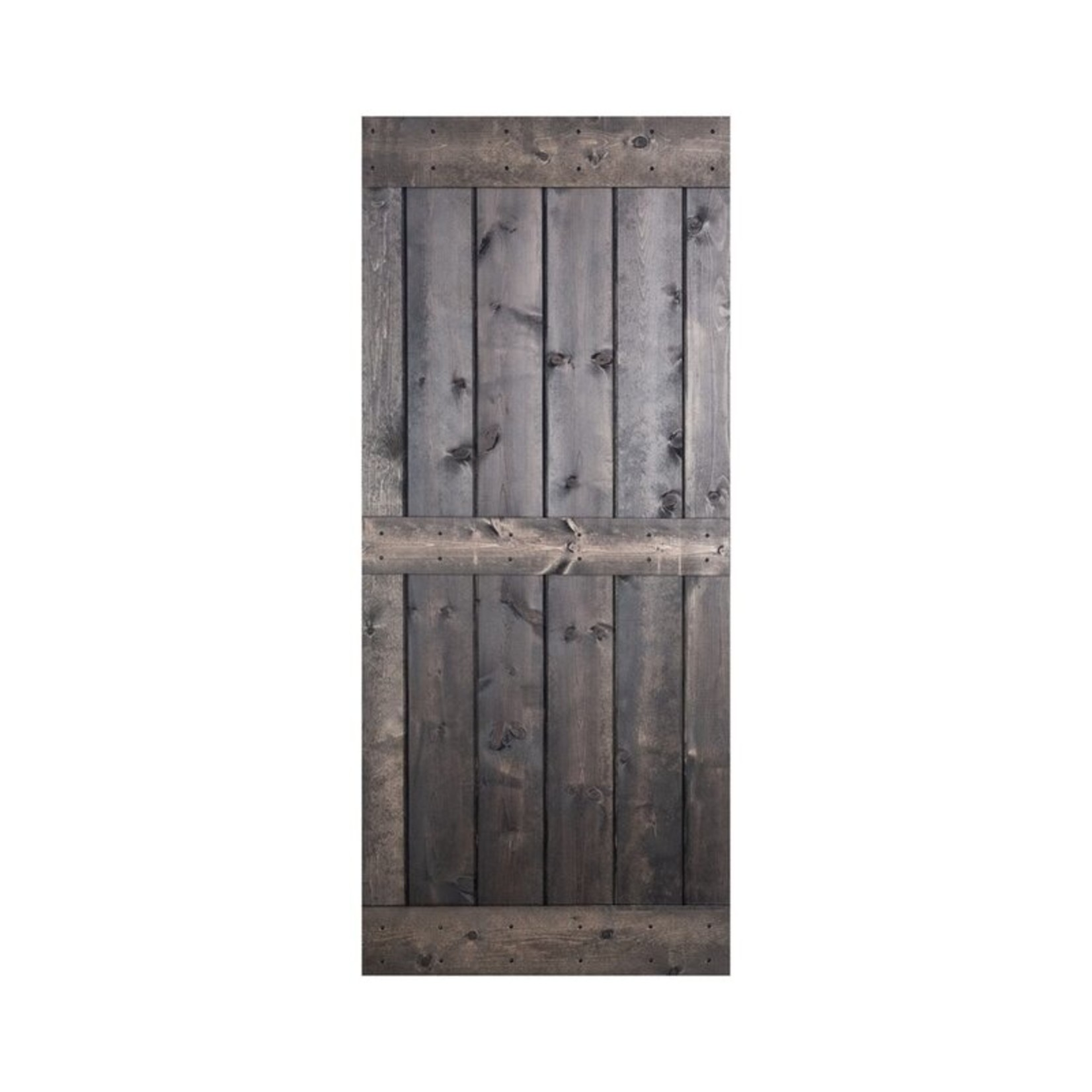 """*24"""" x 84""""  - Paneled Manufactured Wood Painted Barn Door without Installation Hardware Kit"""