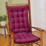 *Quilted Rocking Chair Cushion Set - Burgundy
