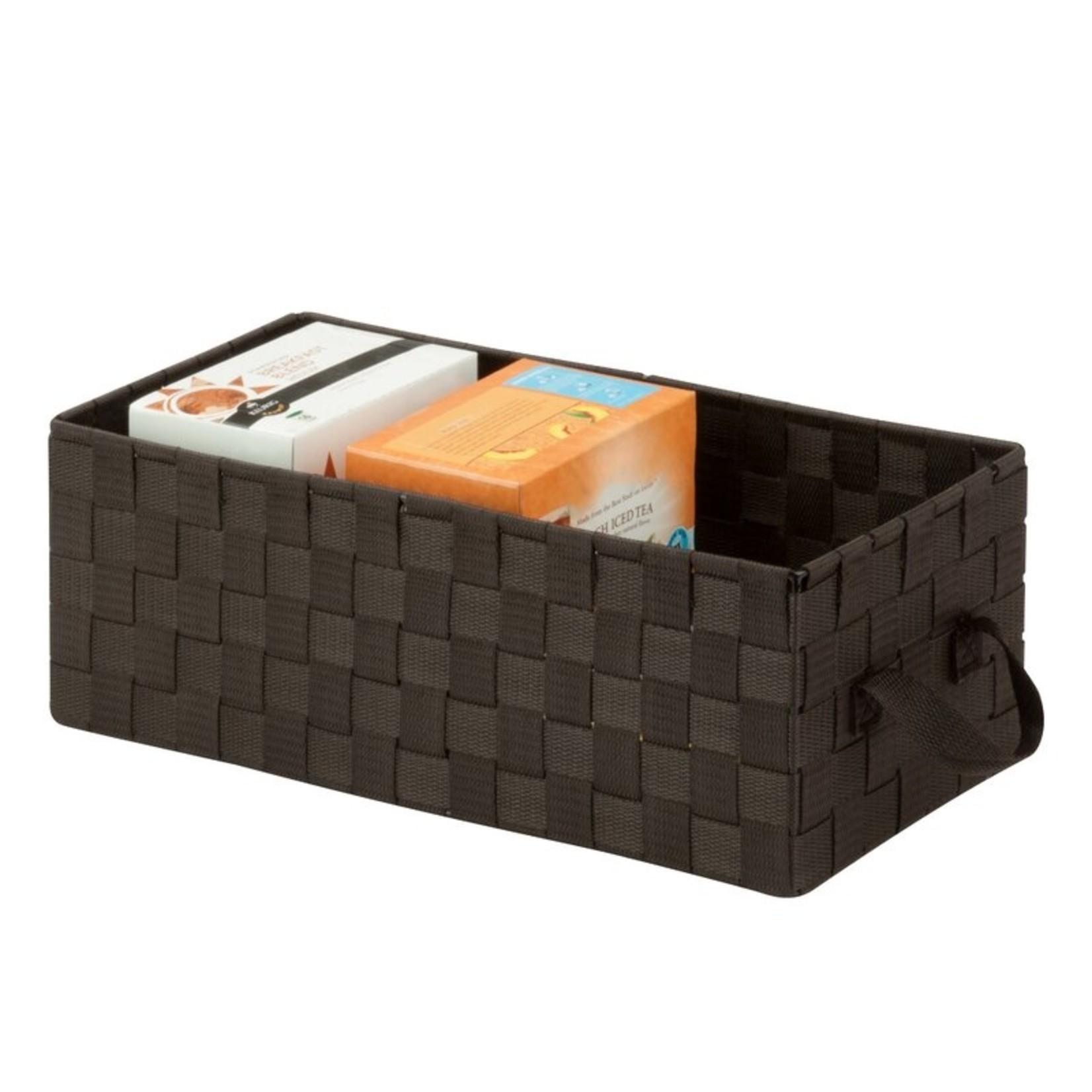 *Media Fabric Basket- Brown