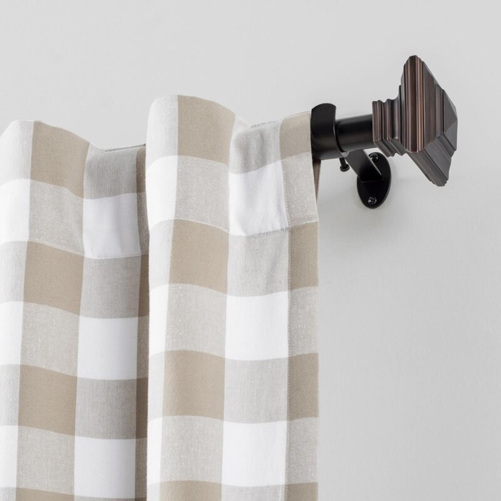"*28""-48"" - Brenton Single Curtain Rod - Antique Bronze"