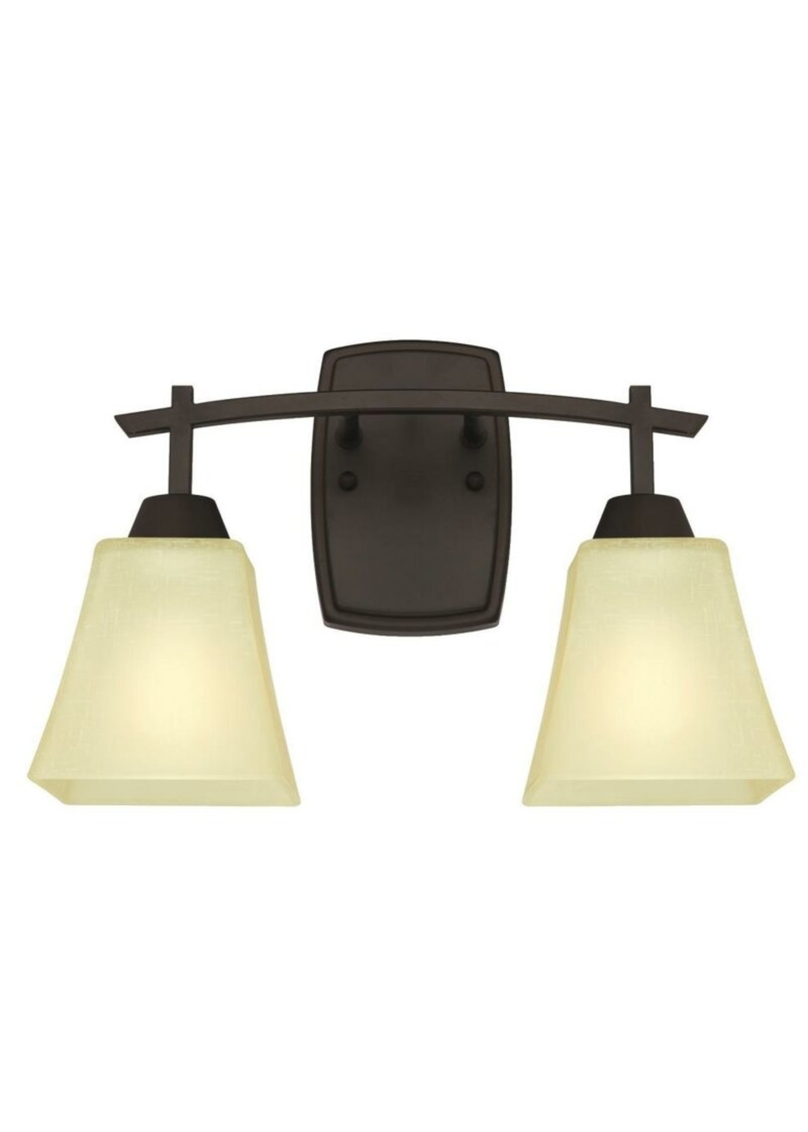 *Metzger 2-Light Dimmable Oil Rubbed Bronze Vanity Light
