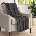"""* 50"""" x 60"""" - Marea Cable-Knit Cotton Throw"""