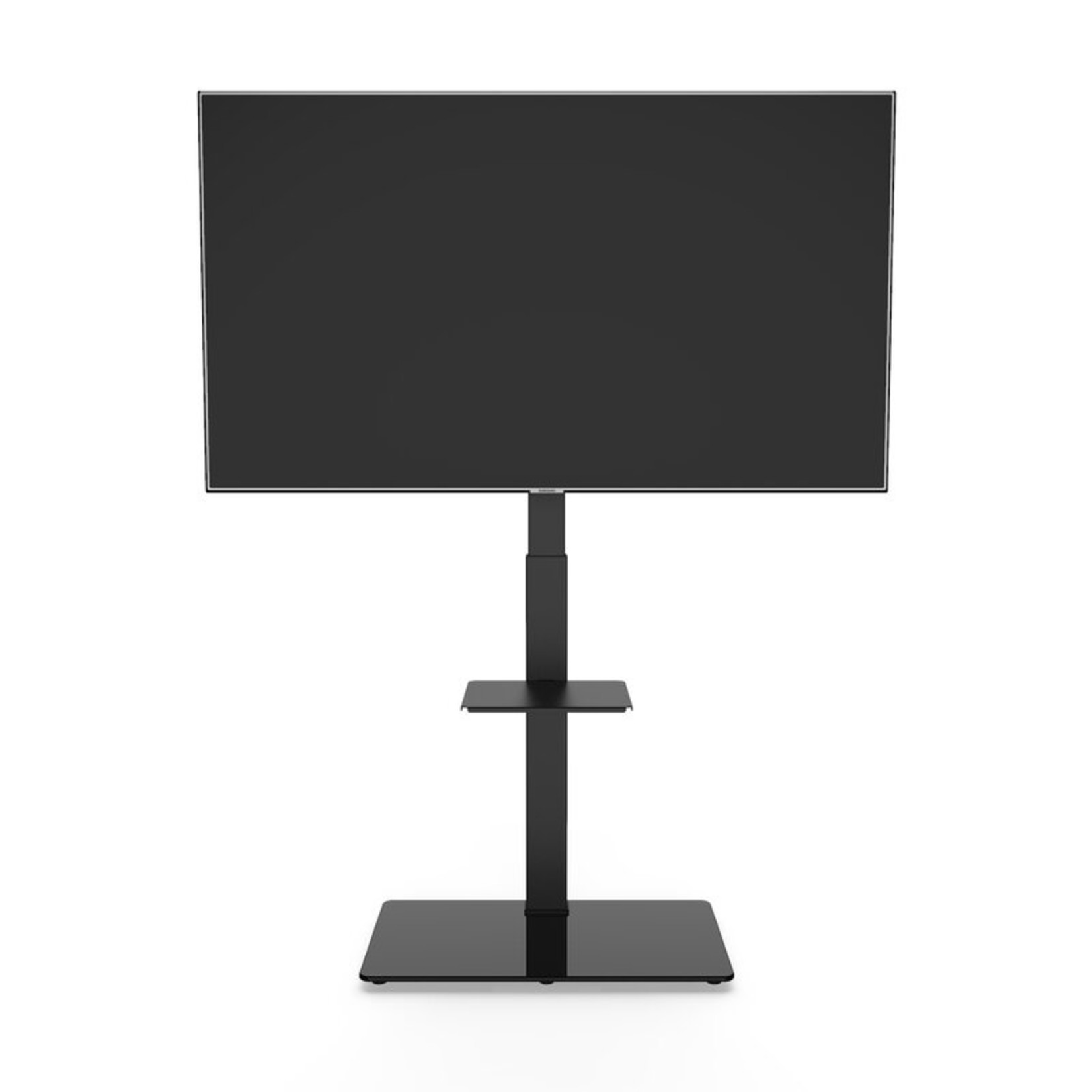 *Black Swivel Floor Stand Mount with Shelving