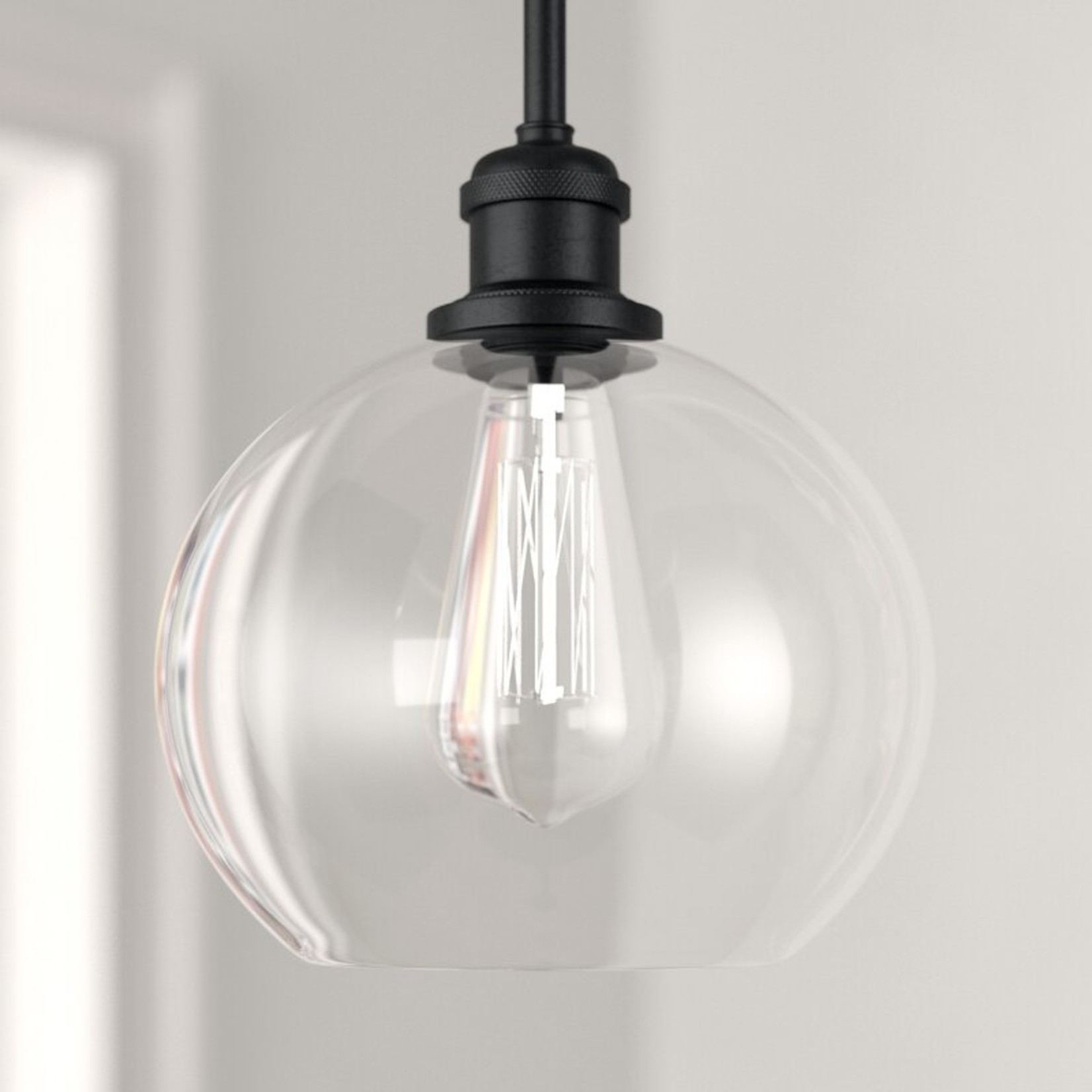 *Anchondo 1 - Light Single Globe Pendant - Matte Black
