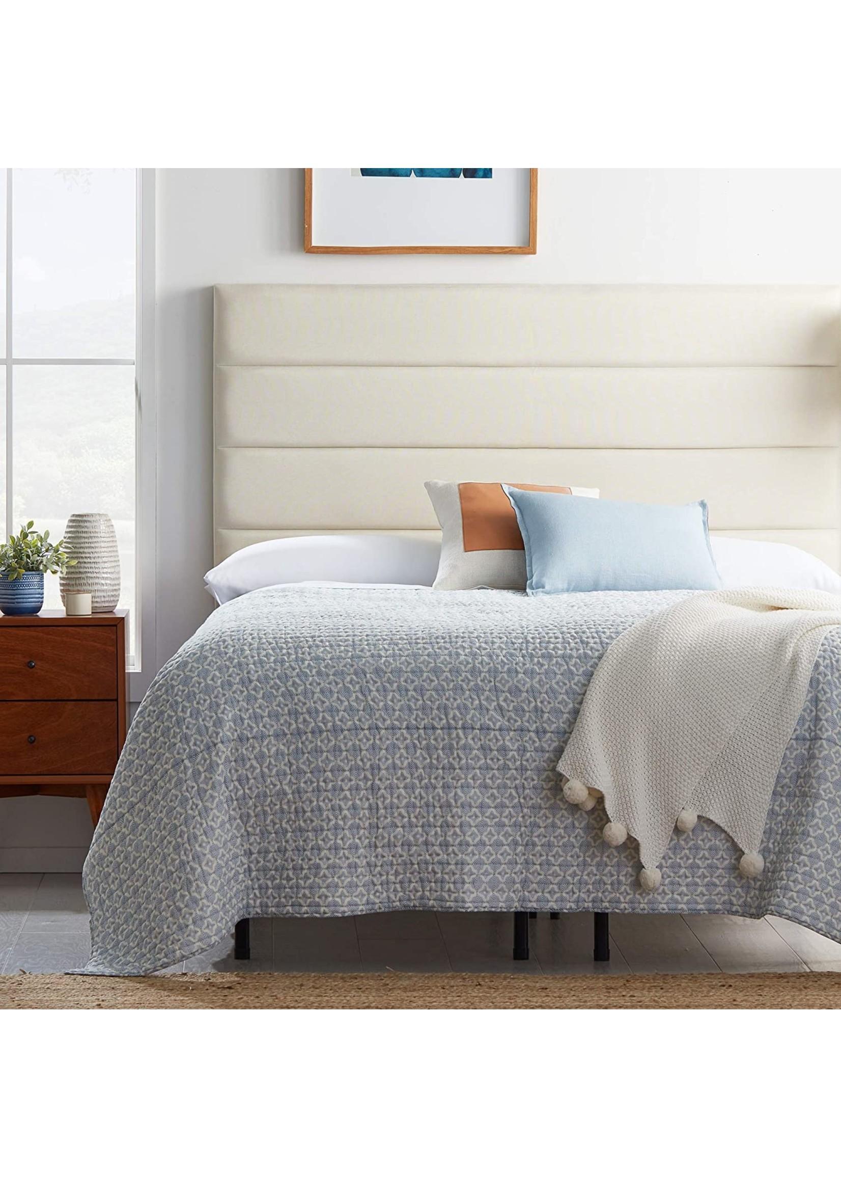 *Full - Upholstered 4 Channel Headboard - Cream