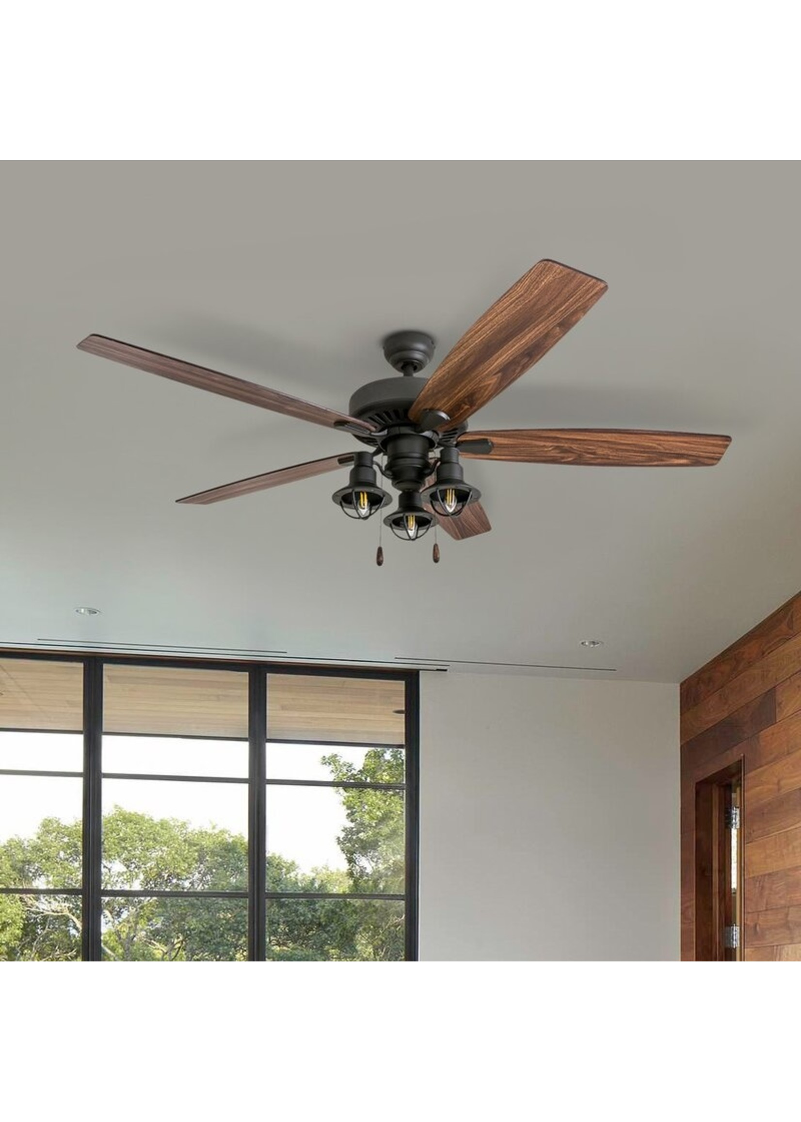 *60'' Hakon 5 - Blade Standard Ceiling Fan with Light Kit Included
