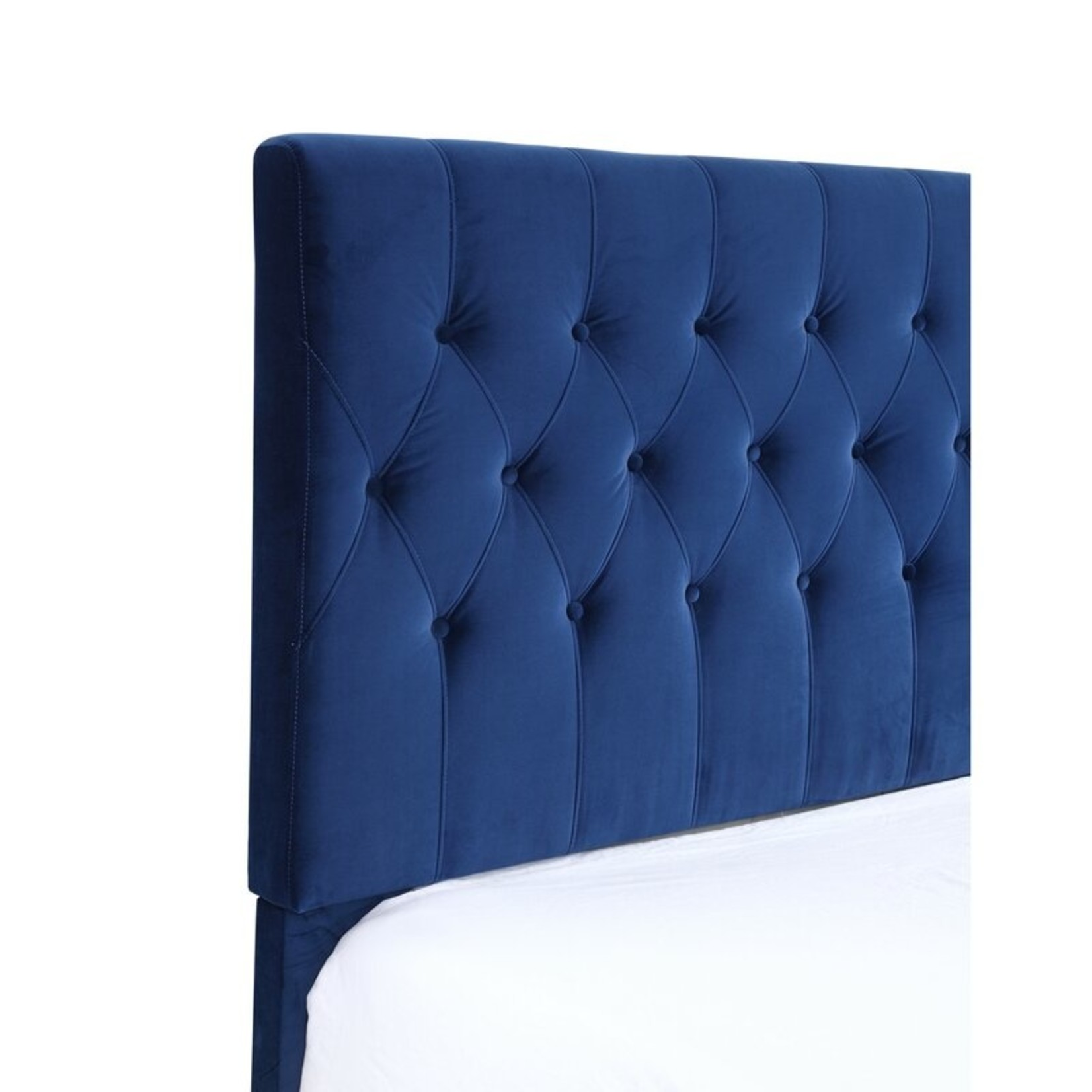 *Full - Kayden Tufted Upholstered Headboard - Navy