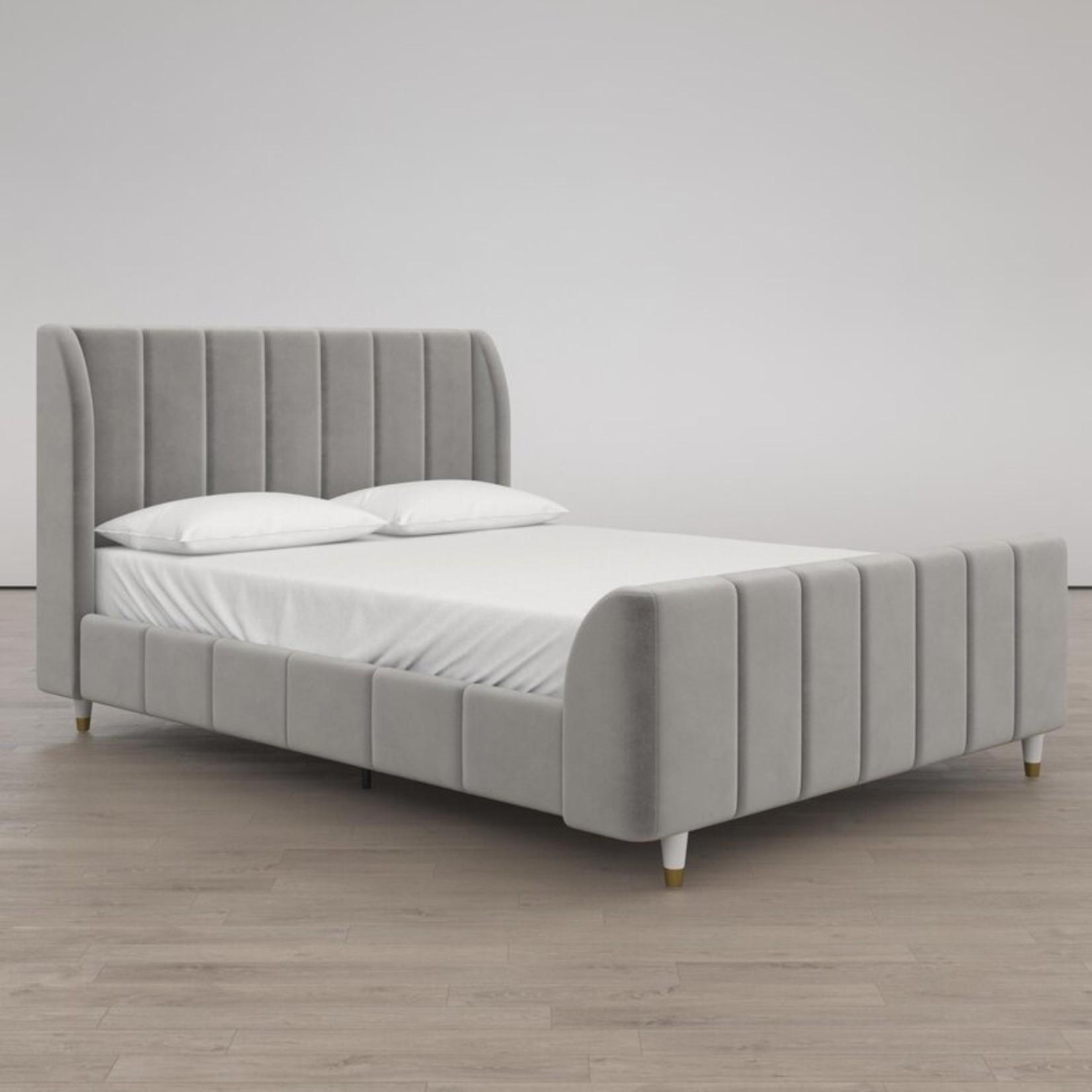 *Full - Valentina Upholstered Low Profile - Grey