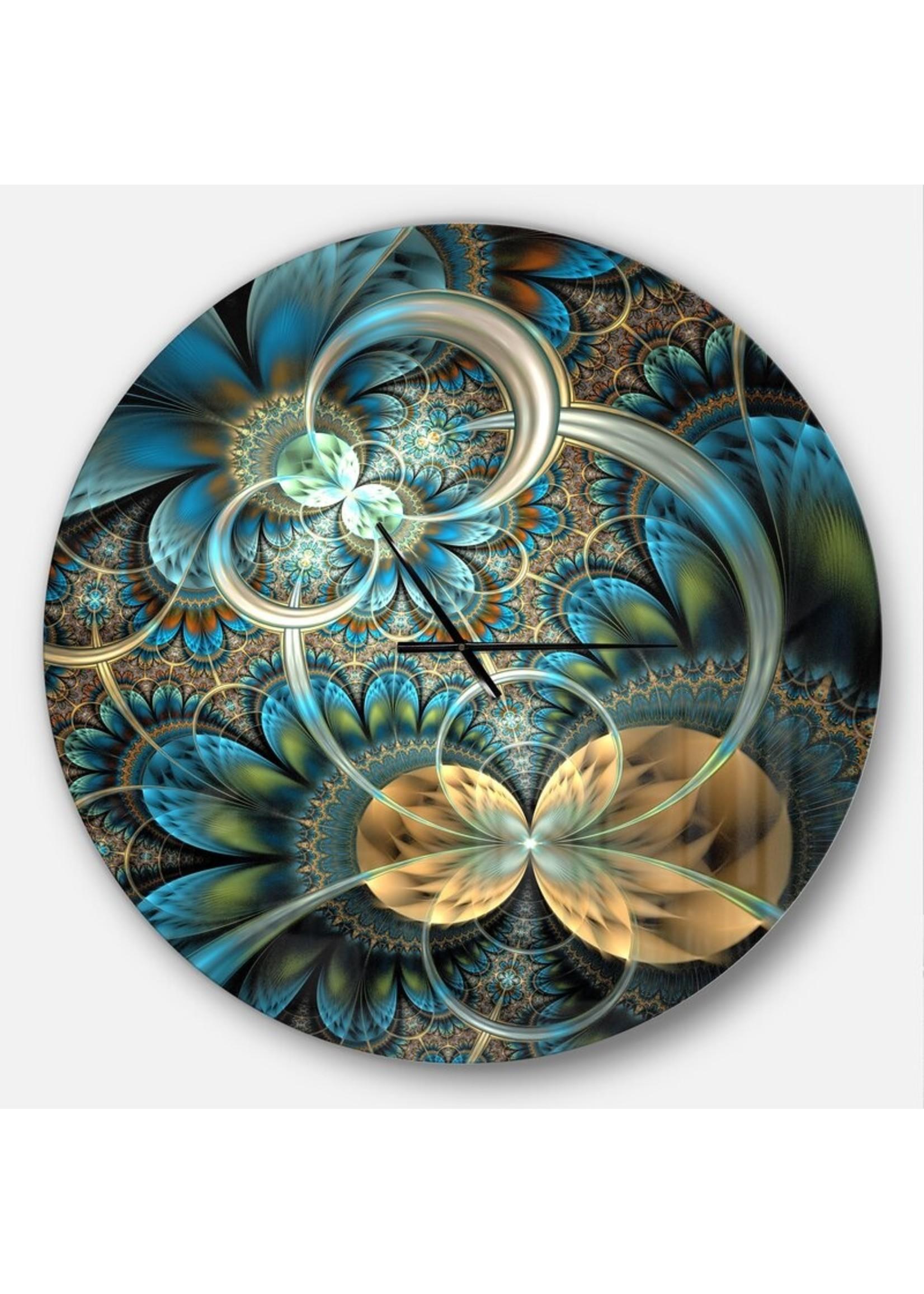 *Symmetrical Fractal Flower Wall Clock (Final Sale)