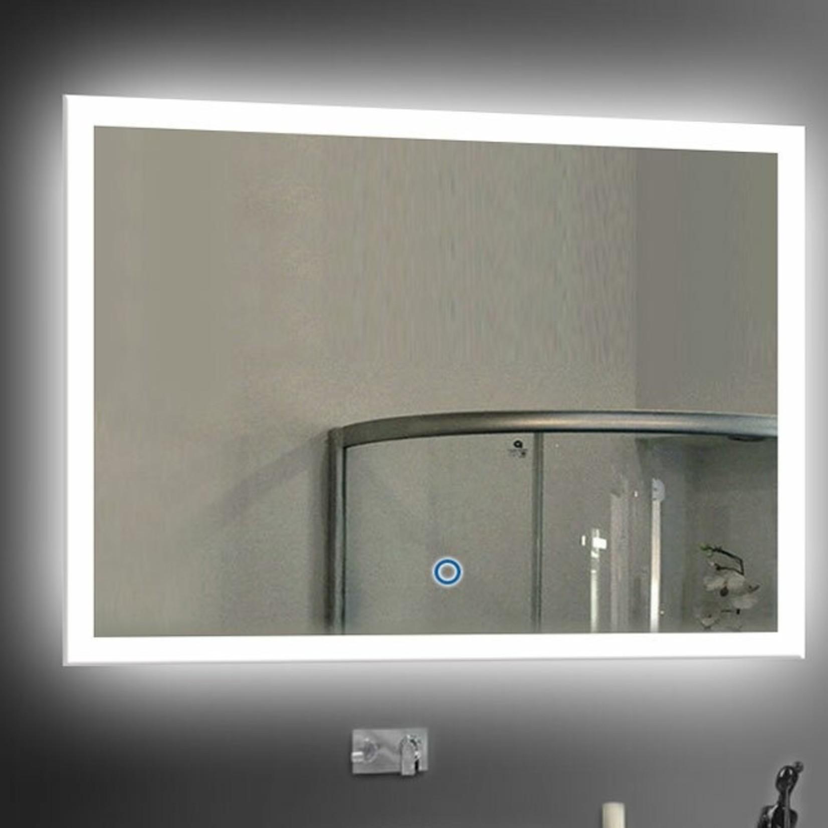 """*28"""" x 36"""" - Varden Modern Frameless Lighted Bathroom Mirror"""