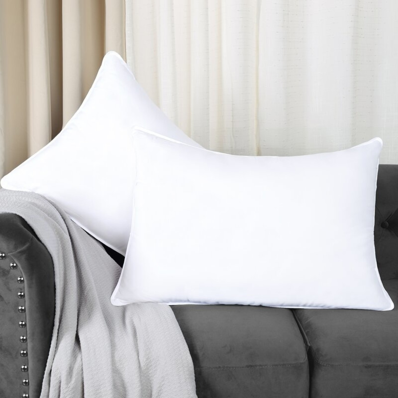 *Standard Size -Down Alternative Plush Support Pillow Set - Final Sale