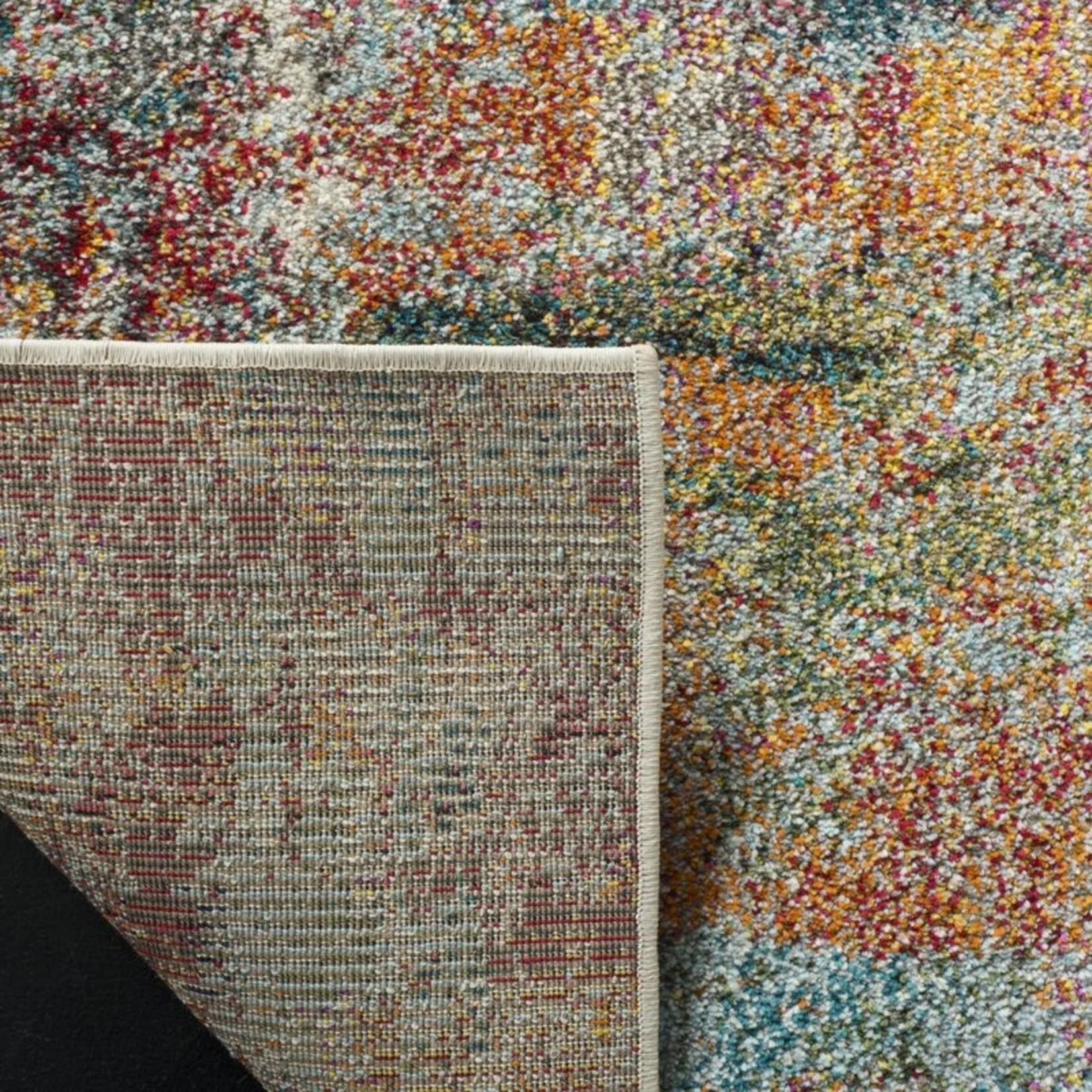 "*5'1"" x 7'7"" - Muhan Abstract Teal/Orange Area Rug"