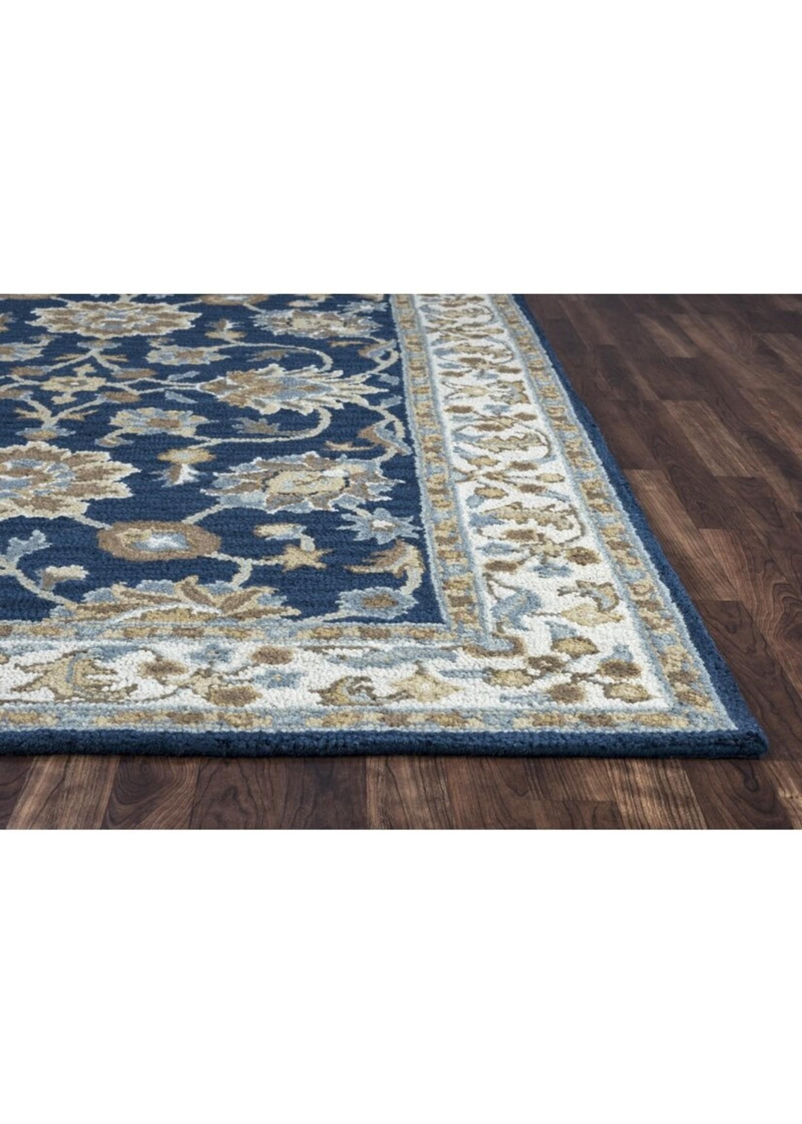 *3' x 5' - Oriental Handmade Tufted Wool Blue Area Rug