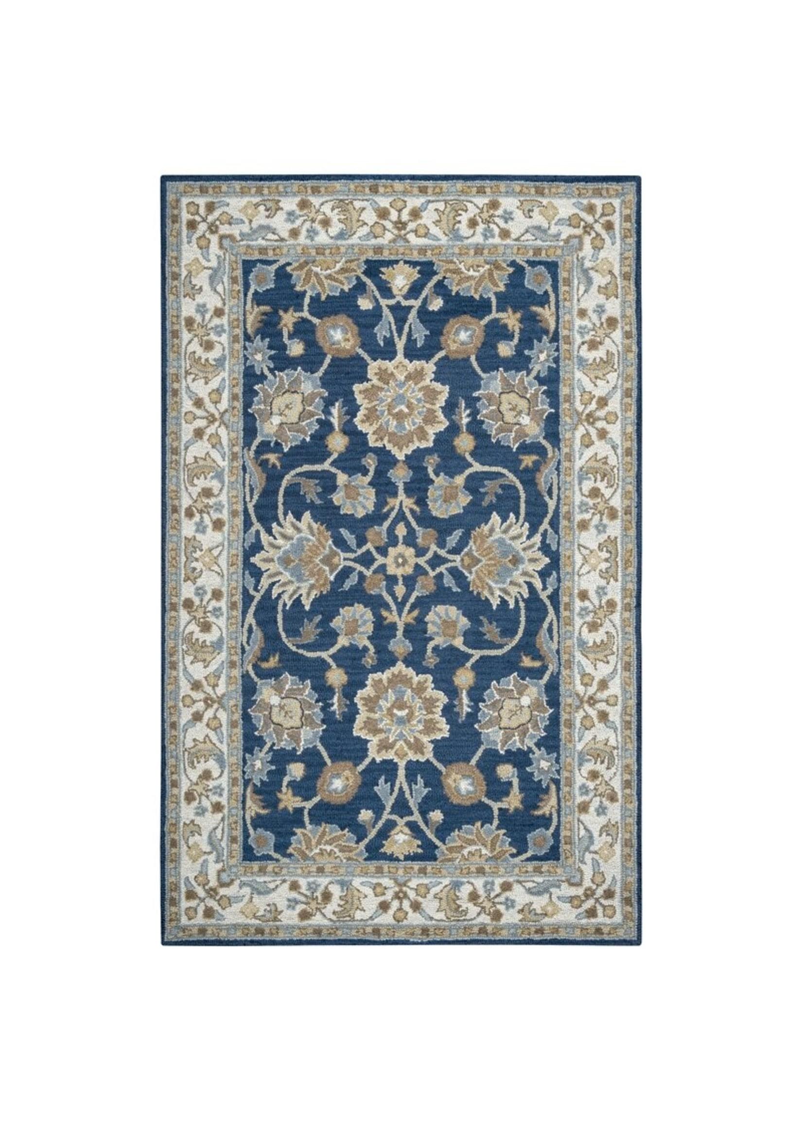 """*2'6"""" x 8' -  Oriental Handmade Tufted Wool Blue Area Rug"""