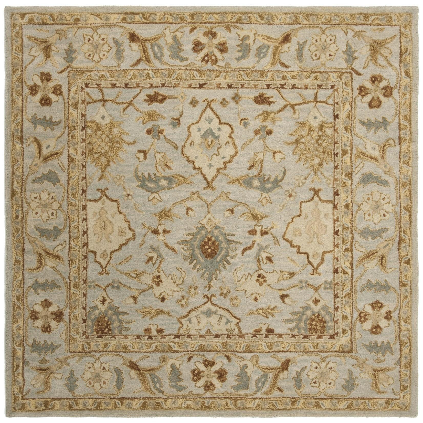 """*9'6"""" x 13'6"""" - Sarasota Oriental Handmade Tufted Wool Blue/Beige Area Rug"""