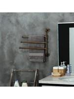*Industrial Pipe 3-Arm Swivel Towel Rack - Brown