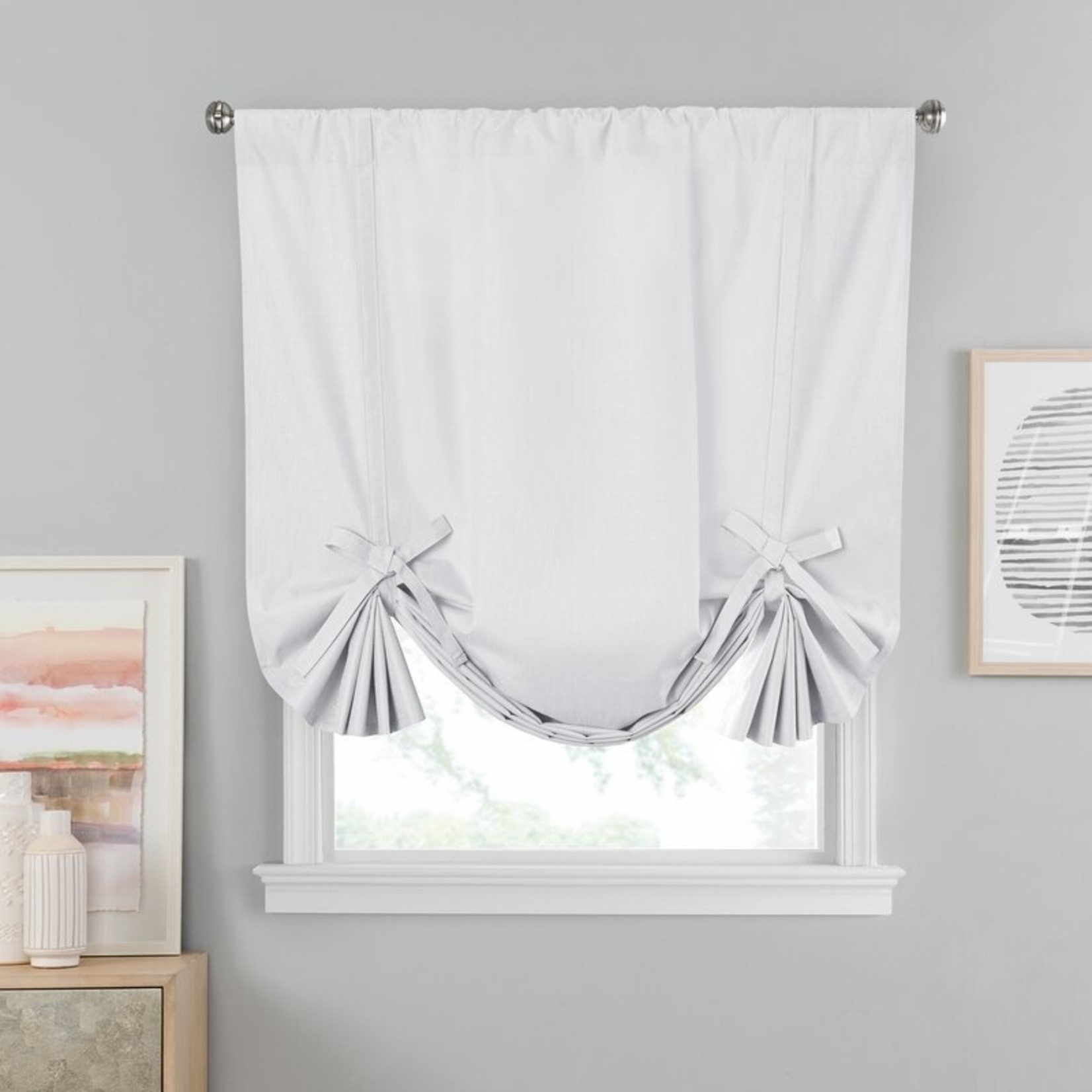 """*42"""" x 63"""" - Eclipse blackout thermal Single Curtain Panel - White"""
