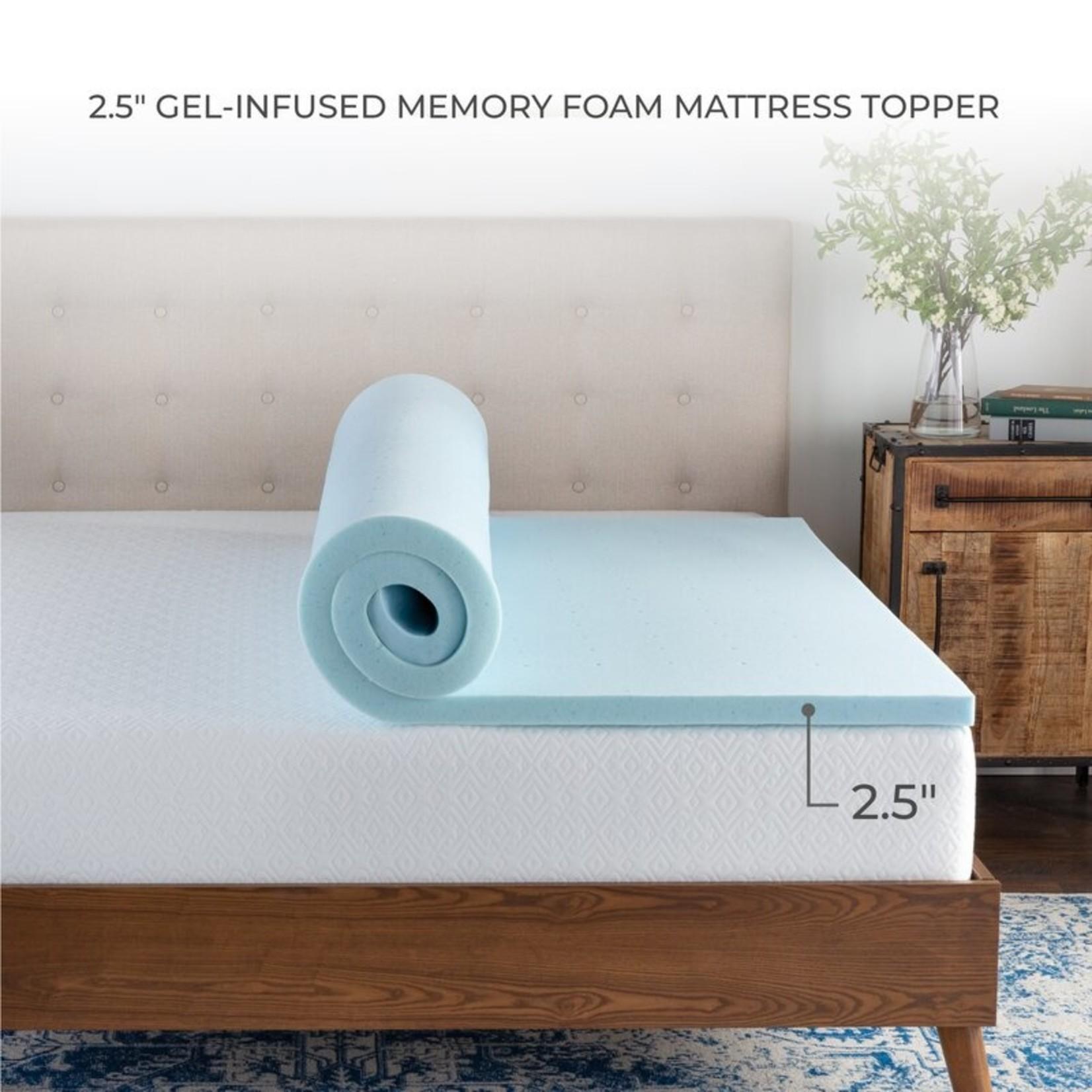 "*Twin XL - Wayfair Sleep 2.5"" Gel Memory Foam Mattress Topper"