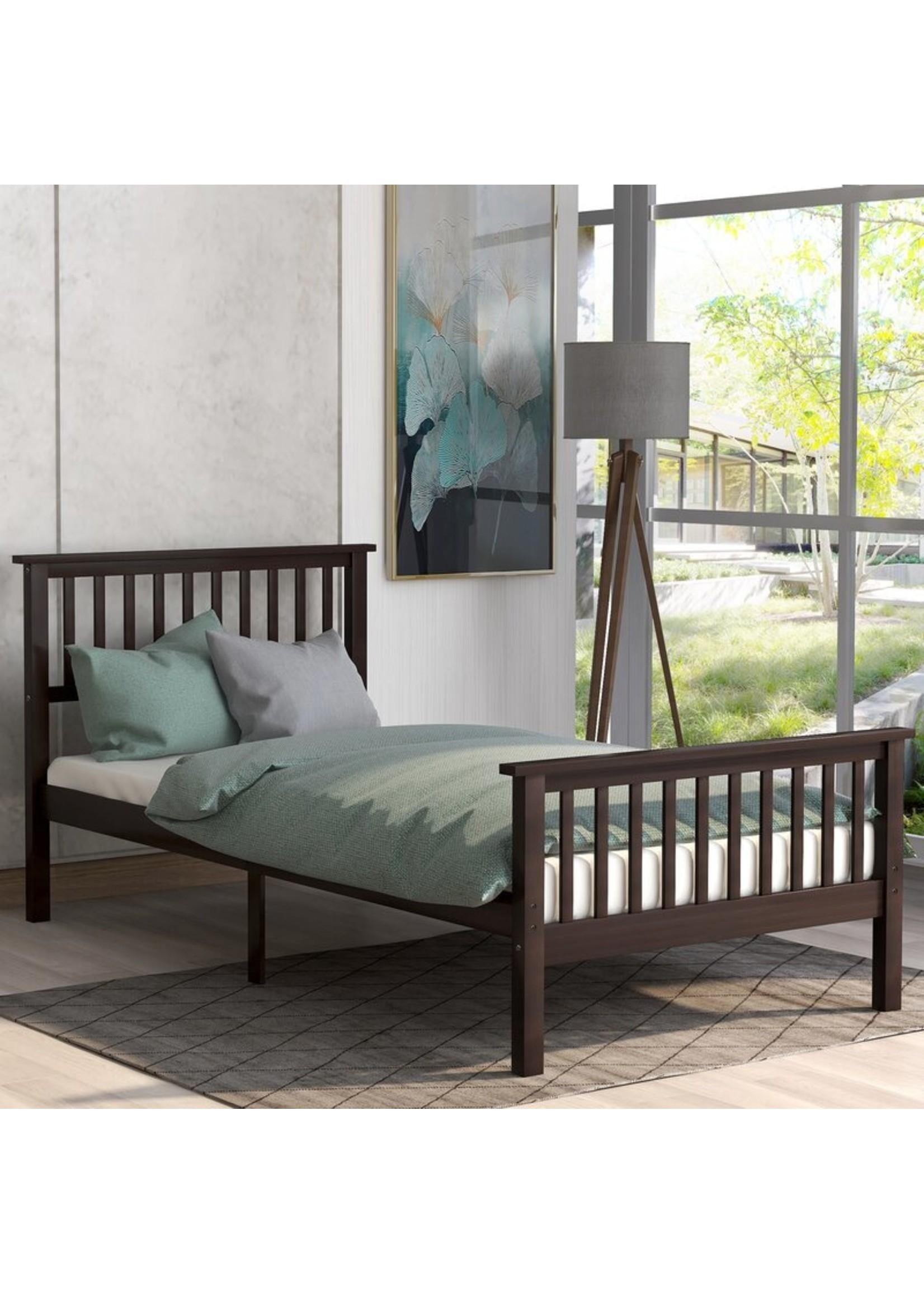 *Twin - Hillam Platform Bed - Dark  Cappuccino