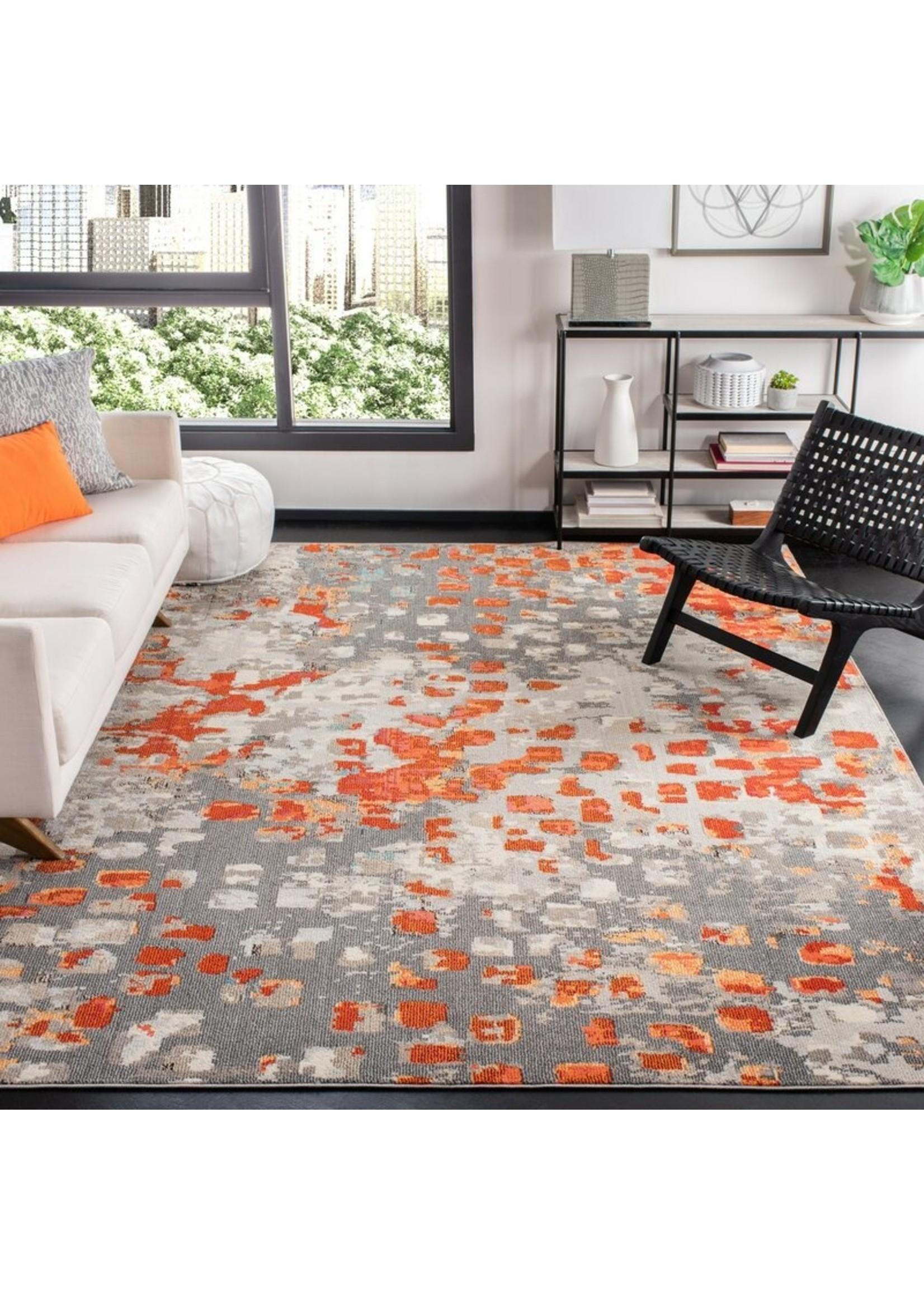 *12' x 18' - Poche Abstract Orange Area Rug
