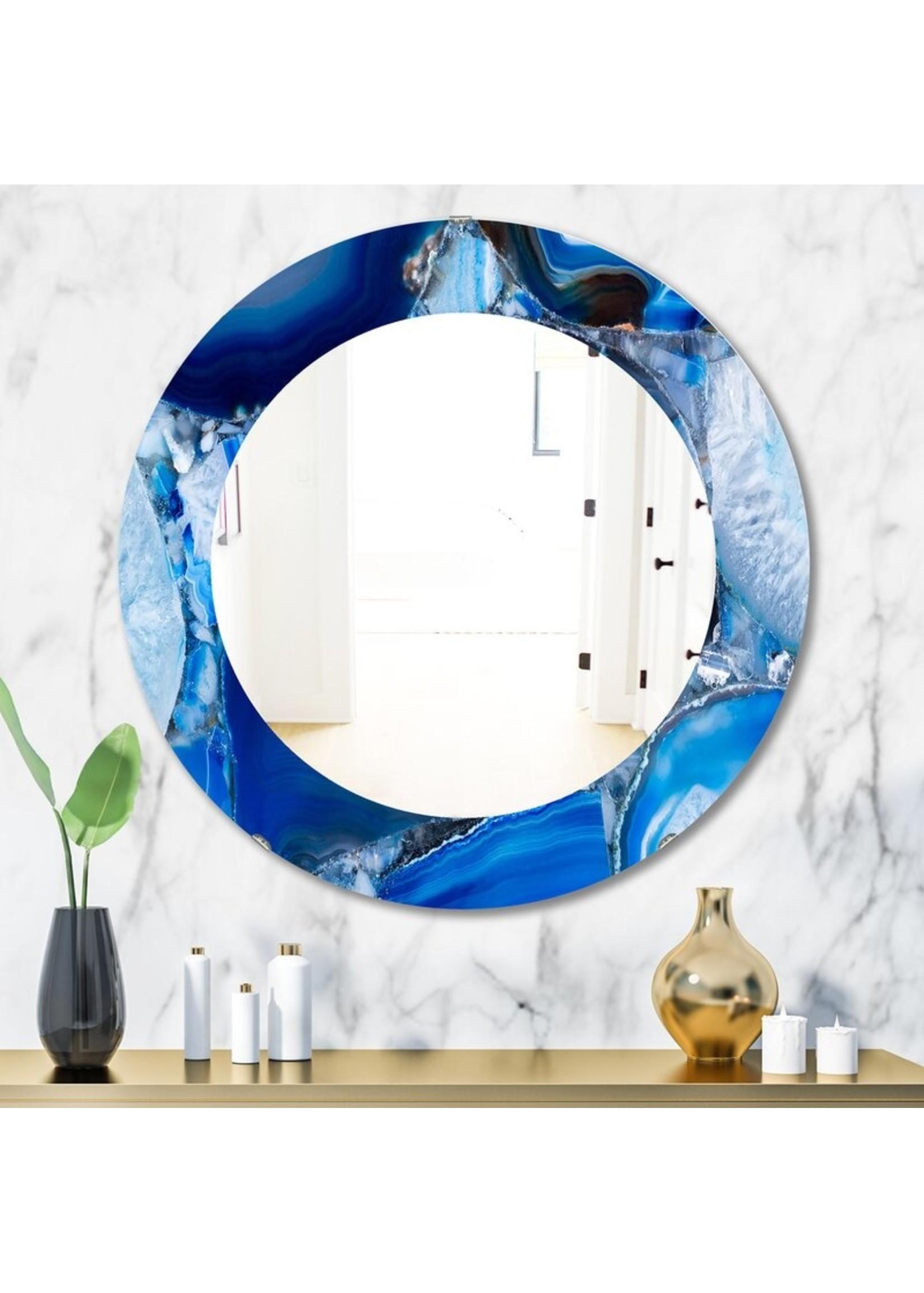 """*23.6"""" x 23.6"""" - Marbled Geode 11 Mid-Century Modern Wall Mirror"""