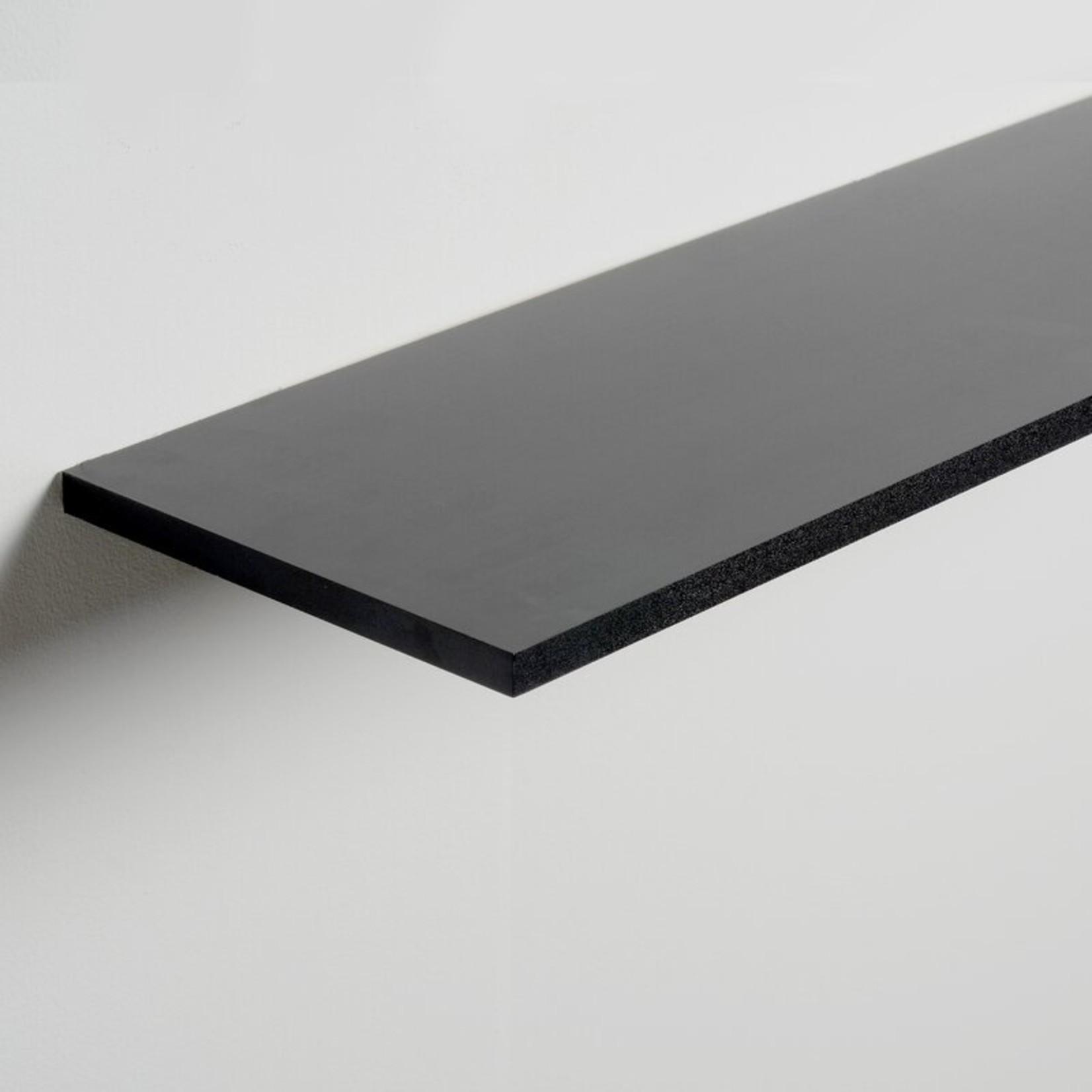 """*36"""" x 8"""" - Brusly Floating Shelf - Black - Set of 2"""