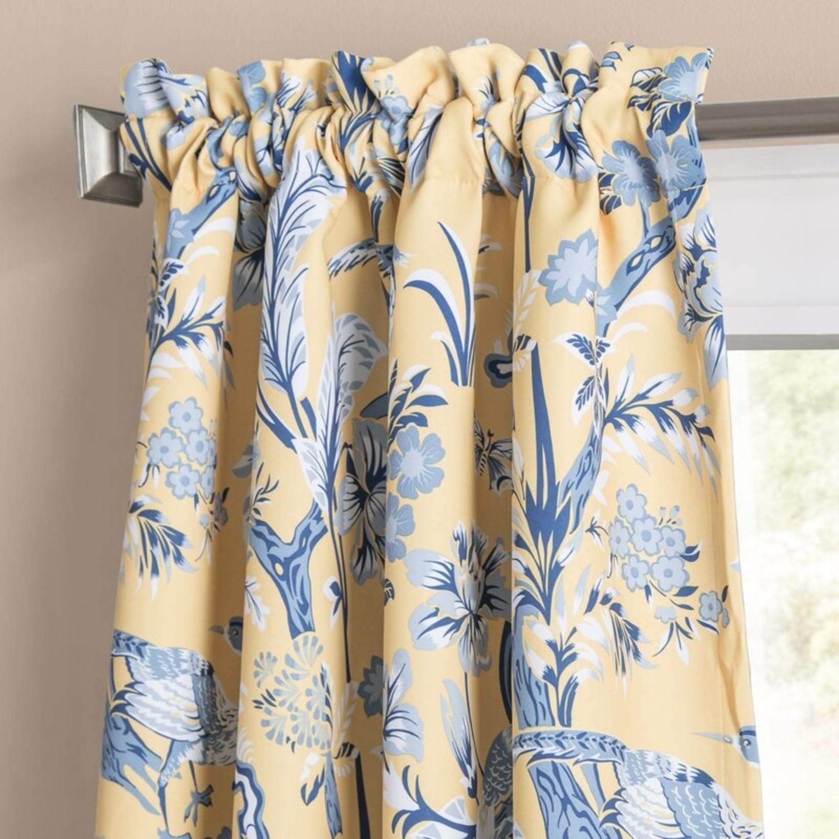"*52"" x 84"" - Panagia Floral Room Darkening Thermal Rod Pocket Curtain Panels - Set of 2"