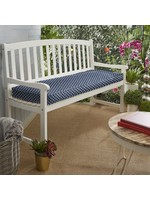 """*40"""" x 17"""" - Samantha Geometric Piped Indoor/Outdoor Bench Cushion - Navy - Final Sale"""