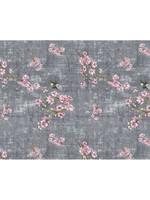 *12Yards -Chinoiserie Blossom Fantasia Fabric - Grey - Final Sale
