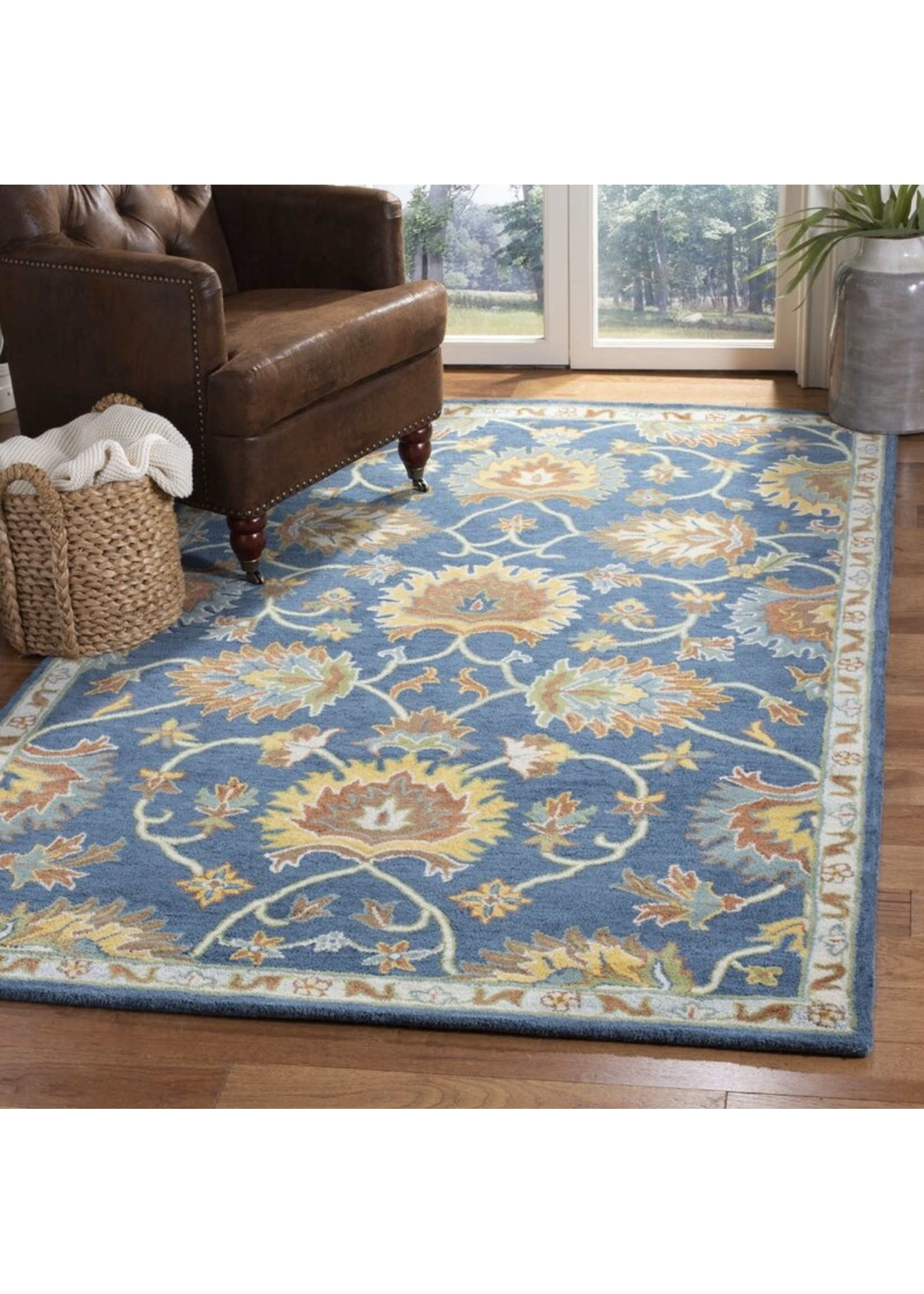 *3' x 5' - Cranmore Hand-Tufted Wool Brown/Blue Area Rug