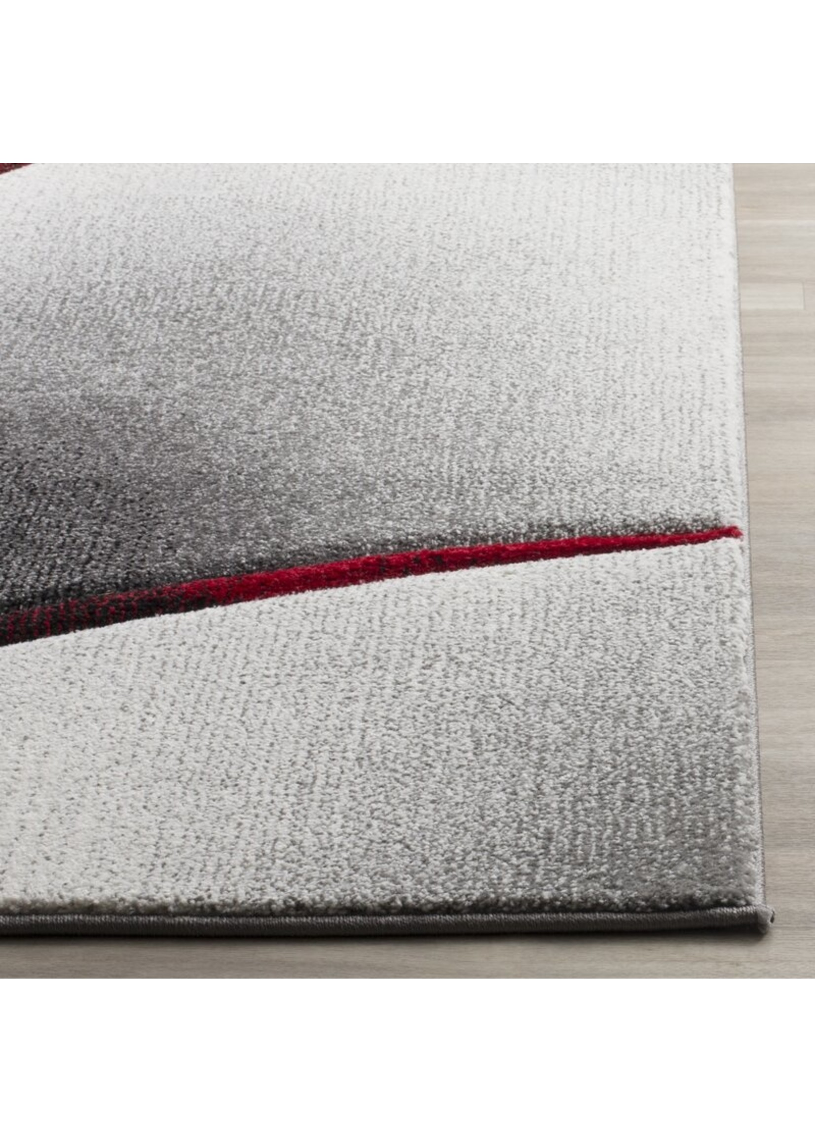*4' x 6' - Anne Abstract Grey/Red Area Rug