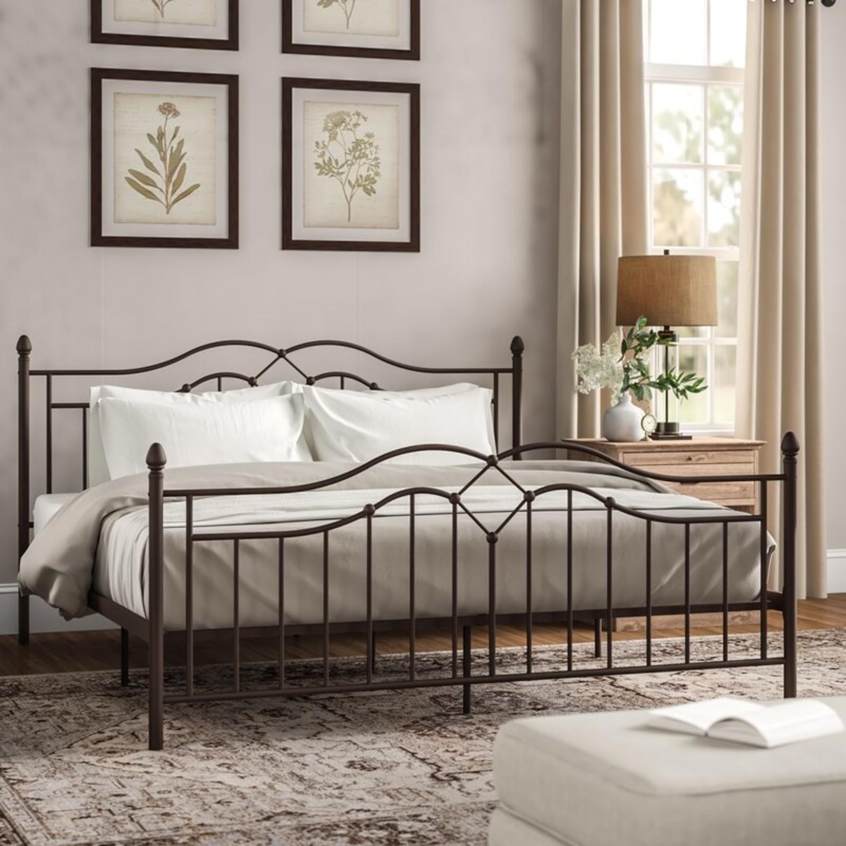 *King - Mirfield Platform Bed - Brushed Bronze