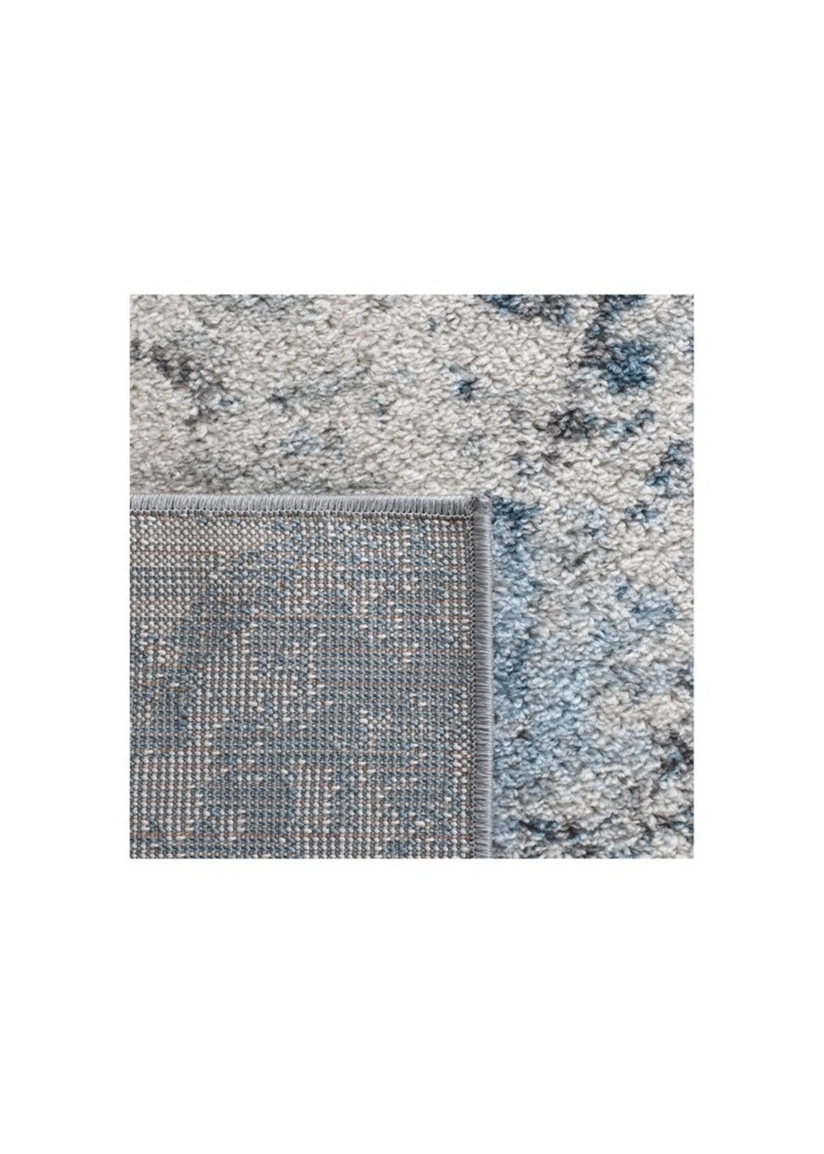 *4' x 6' - Olaughlin Power Loom Ivory/Blue Rug