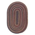 *4' x 6 Oyola Geometric Braided Wool Brown/Red/Blue Area Rug
