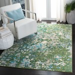 *3' x 5' - Hewson Abstract Green/Turquoise Area Rug