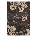 *4' x 6' - Marybell Floral Dark Brown Area Rug