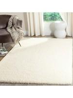 *3' x 5' - Hornell Shag Polyester Cream Area Rug