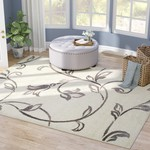 *4' x 6' - Breese Floral Ivory/Gray Area Rug