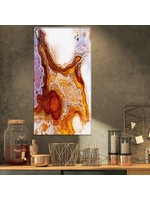 """*16"""" x 32"""" - Stone 'Micro Agate Geode' Graphic Art Print on Wrapped Canvas"""