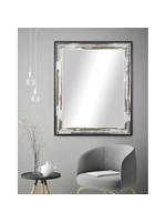 "*40"" x 36"" - Modern & Contemporary Distressed Accent Mirror - Brown/Cream"